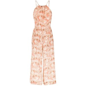 Andrea Marques - printed jumpsuit - women - シルク - 38