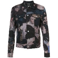 Dior Homme - printed denim jacket - men - コットン/スパンデックス - 50