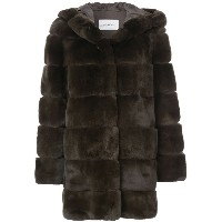 Yves Salomon - fur detail coat - women - シルク/ラビットファー - 34