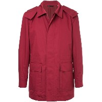 Gieves & Hawkes - zip up coat - men - シルク/コットン - XL