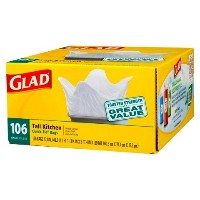 Glad Tall Kitchen Quick-Tie Trash Bags 13 gal 106 ct by Glad [並行輸入品]