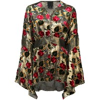 Anna Sui - floral pattern blouse - women - シルク/ポリエステル/レーヨン - 4