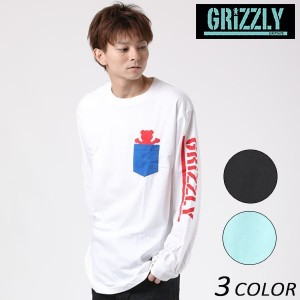 SALE セール 50%OFF メンズ 長袖 Tシャツ GRIZZLY グリズリー DTEE STAMP BEAR PKT L/S VIGR173M2 EE3 J13