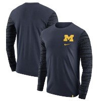 Michigan Wolverines Enzyme Washed Long Sleeve T-Shirt メンズ Navy ナイキ ジョーダン NCAA ミシガン バスケ ロングスリーブ Tシャツ...
