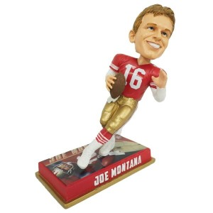 NFL 49ers ジョー・モンタナ レジェンドプレイヤー ボブルヘッド Forever Collectibles レアアイテム