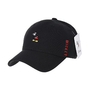 WITHMOONS 野球帽キャップ Disney Mickey Mouse Neh Boo Embroidery Baseball Cap CR1259 (Black)