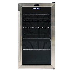 Whynter 冷蔵ショーケース 120缶  Beverage Refrigerator - Stainless Steel ステンレススチール [並行輸入]