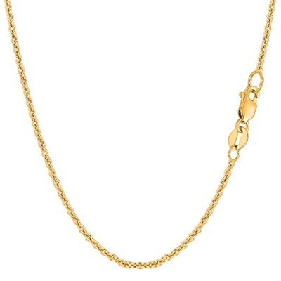 """14k Yellow Gold Forsantina Chain Necklace, 1.9mm, 16"""""""