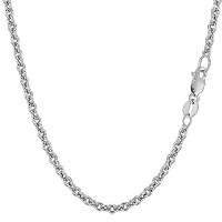14k White Gold Forsantina Chain Necklace, 3.1mm, 18""