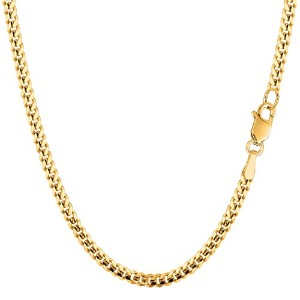 14k Yellow Gold Gourmette Chain Necklace, 3.0mm, 18""