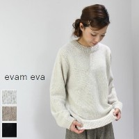 evam eva(エヴァムエヴァ) soft cashmere PO 3colormade in japane173k097