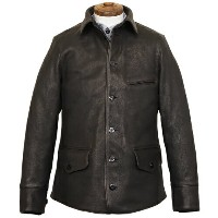 FREEWHEELERS フリーホイーラーズ JOURNEYMAN WORK COAT 1920s - 1930s WORKMENT'S GARMENT DEER SKIN JET BLACK