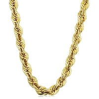 """14K Yellow Gold Filled Solid Rope Chain Necklace, 6.0mm, 36"""""""