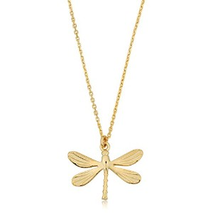 """14K Yellow Gold Dragonfly Pendant On 18"""" Necklace"""