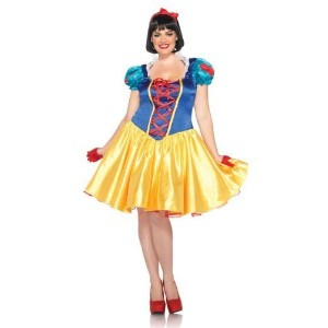 (白雪姫 コスプレ) (レッグアベニュー)  Disney Plus-Size 2Pc. Classic Snow White Costume Dress and Bow Head Piece
