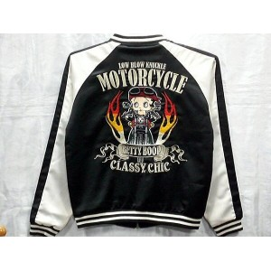 LOWBLOW KNUCKLE X BETTY BOOP M/C RIDE BOOP ベティーズバイク スカジャン【コンビニ受取対応商品】