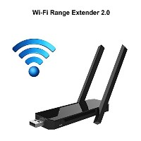 COOSA Wi - Fi Range ExtenderワイヤレスWiFiリピータ/ルータ/ AP / 2.4 GHz 300 Mpbs with 2つ高効率アンテナ L EL0584