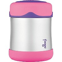 THERMOS foogo 真空断熱ステンレススチール10オンス フードジャー/ Vacuum Insulated Stainless Steel 10-Ounce Food Jar, ピンク...