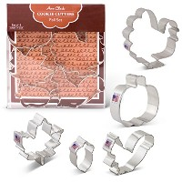 Fall /感謝祭Cookie Cutters – 5 Piece Boxed Set – Pumpkin、トルコ、メープルリーフ、エイコーン、Squirrel – アンクラーク –...