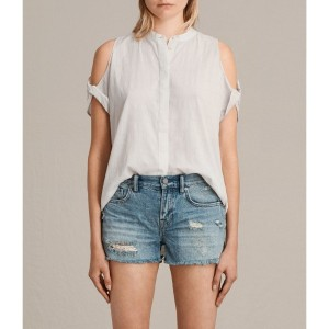 【SALE 29%OFF】ELSA SHIRT (Chalk White)