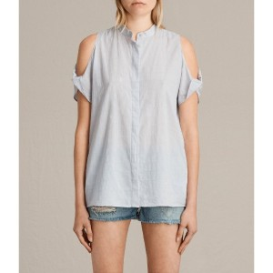 【SALE 29%OFF】ELSA SHIRT (SEAFOAM BLUE)