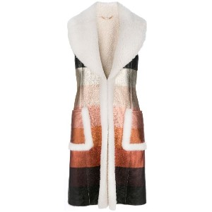 Fendi - dégradé effect gilet - women - ラムスキン/Lamb Fur - 40