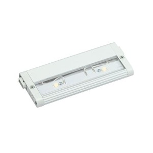 12311WH Design Pro LED 6IN 3W Modular 2.0 24V Undercabinet Light, White Finish with Clear Glass...