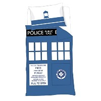 Doctor Who Timelord TARDIS Single Duvet Cover Set by BBC Worldwide