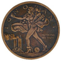 Blinded Liberty ( Mini Mintage ) 1 oz .999 Pure Copper Challenge Coin w /ブラックPatina byジグPro Shop