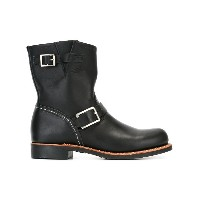Red Wing Shoes - バックルディテール ブーツ - women - レザー/rubber - 6