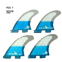 FCS2 FIN/エフシーエス2 PERFORMER/パフォーマーPC TEAL LARGE QUAD パフォーマンスコア クワッドフィン4本セット サーフィン用 送料無料