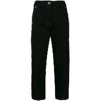 Lemaire - high-waisted cropped trousers - women - コットン - 36