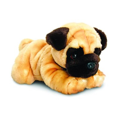 Pug Soft Toy Dog 35cm called Reggie - Keel Toys - Teddy Bear