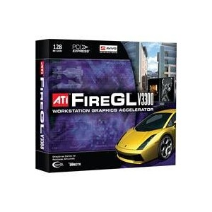 ATI AMD FireGL V3300 128MB GDDR2 Workstation Video Card - 128MB GDDR2, PCI Express 1.0 x16, Dual DVI