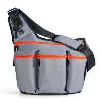 Diaper Dude - D400 - Sac à Langer - Messanger I - Gris - Fermeture - Orange