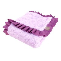 Trend Lab Velour Ruffle Trimmed Receiving Blanket, Lilac/Plum by Trend Lab (English Manual)