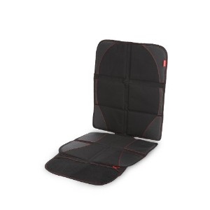 Diono Ultra Mat Deluxe Seat Protector with Integrated Car Seat Sun Shade (Black)