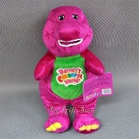 Best Pal Barney the Dinosaur 12 ' PlushミュージカルSinging Colorful World人形