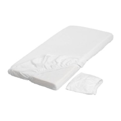 LEN White Fitted Crib Sheets (2 Pack) 28 X 52