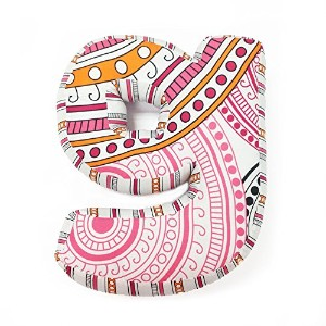 One Grace Place Sophia Lolita Letter Pillow G, White, Pink, Berry, Orange, Black by One Grace Place