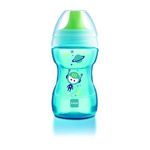 MAM Learn to Drink Cup, Boy, 9 Ounces, 1-Count by MAM