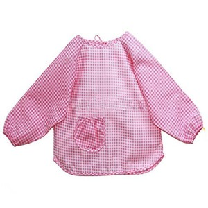 1PC Baby Todder Kids Children Long Sleeve Waterproof Art Smock Bib Apron Pink Color by Bhbuy