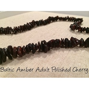 Baltic Amber Necklace for Adults Polished Cherry by Baltic Amber