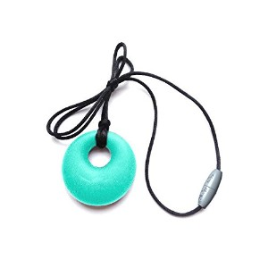 Itzy Ritzy Teething Happens Silicone Jewelry Baby Teething Pendant Necklace Circle, Turquoise by...