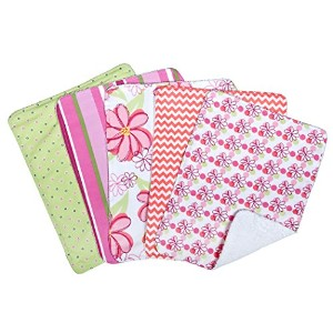 Trend Lab 5 Piece Burp Cloth Bundle Box Set, Hula Baby by Trend Lab