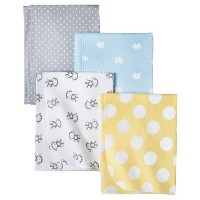Circo Monkeys n Dots 4pk Receiving Blanket by Circo