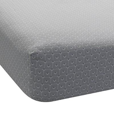 Lambs & Ivy Jensen Collection Fitted Sheet, Gray Geo by Lambs & Ivy