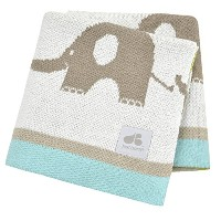 Just Born Jacquard Sweater Blanket, Elephant by Just Born