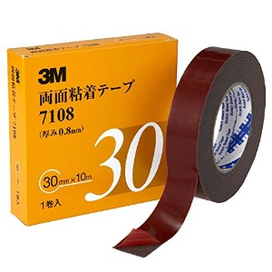 3M 7108 両面粘着テープ 30mm×10m【6箱/ケース】