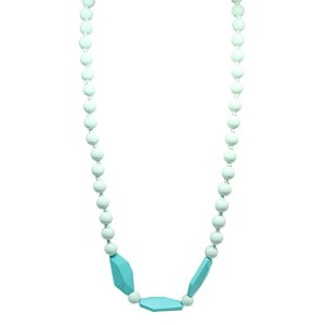 Happy Chew Silicone Teething Necklace (Sweet Mint/Turquoise) by Kiddles